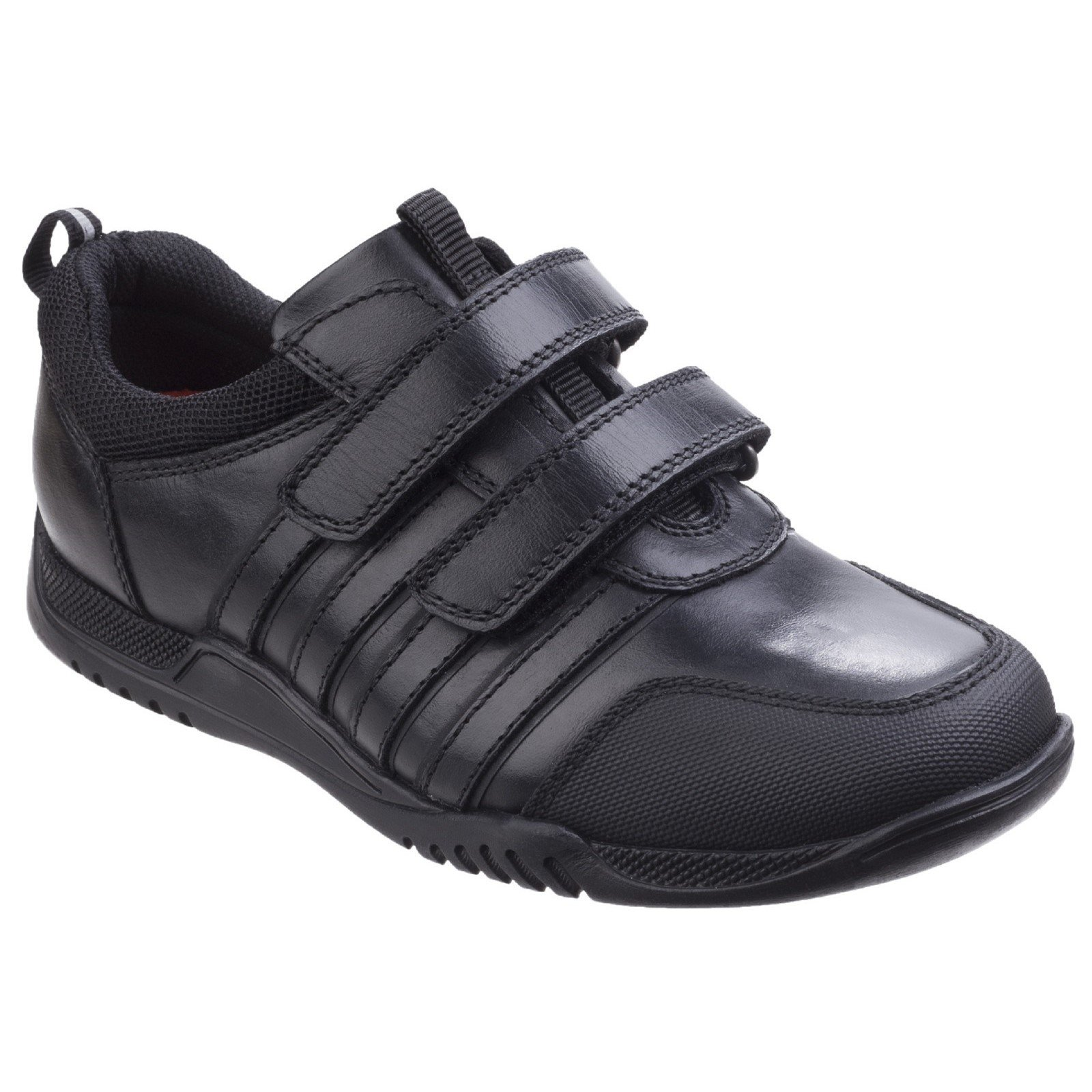 Hush Puppies Kid's Josh Senior School Shoe Black 26396 - Black 4