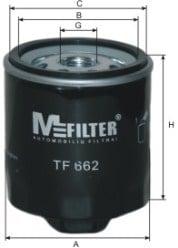 Öljynsuodatin MFILTER TF 662