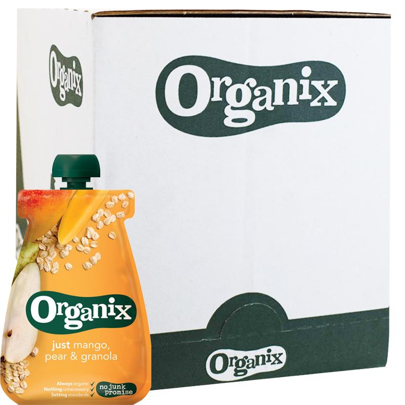 Eko Hel Låda Barnmat Mango, Päron & Granola 12 x 100g - 45% rabatt