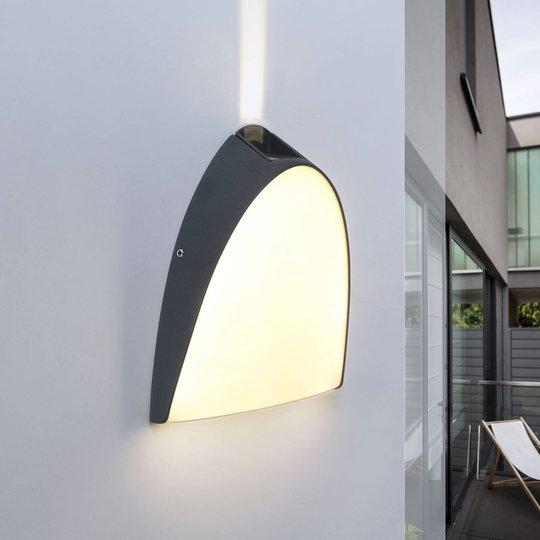 Apollo - utvendig LED-vegglampe med øvre effektlys