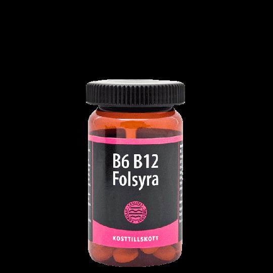 B6 B12 Folsyra, 90 tabletter