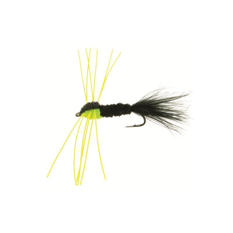 Montana rubber leg #6 - Black/green Kjøp 12 fluer få gratis flueboks