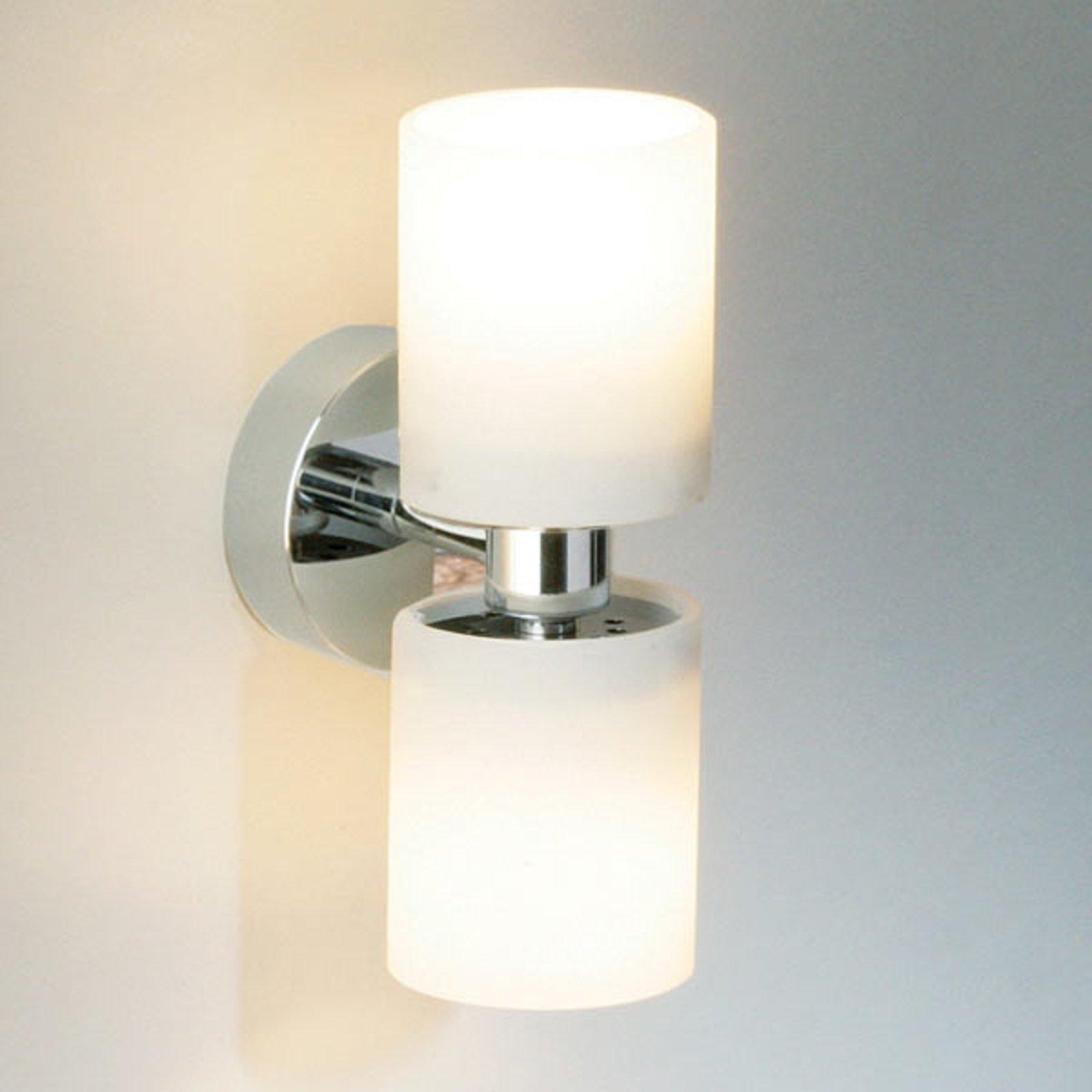 Vegglampe TUBE TWIN SHORT krom
