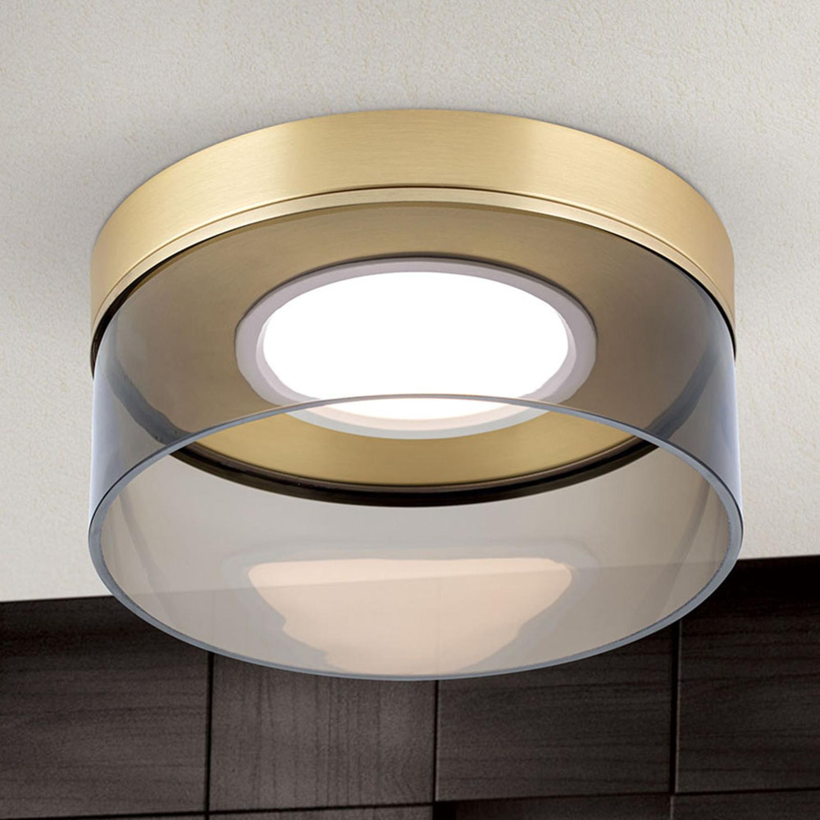 LED-kattovalaisin Francis mattamessinkiä Ø 30 cm