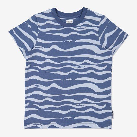 T-skjorte med havtrykk blå