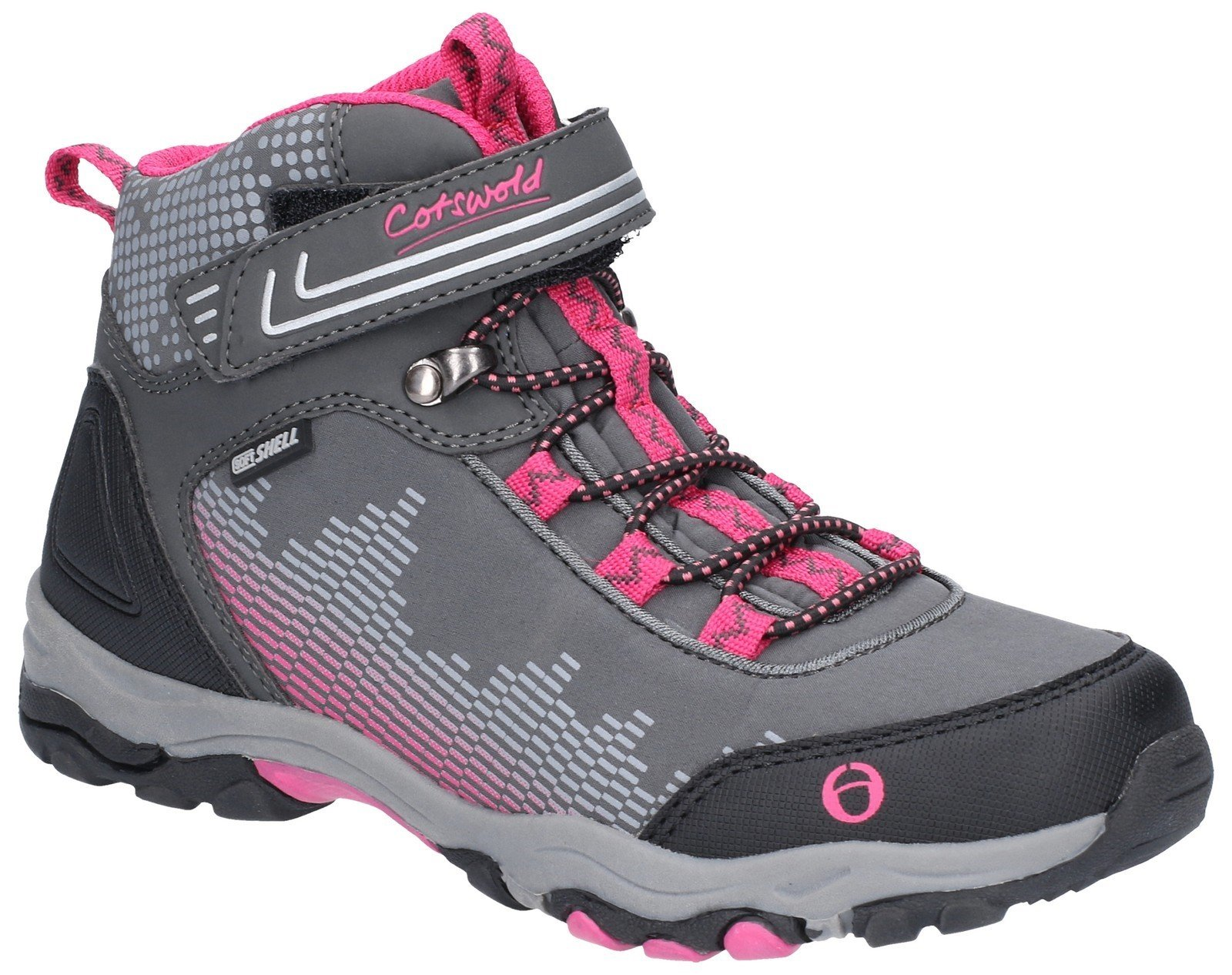 Cotswold Kids Ducklington Hiking Waterproof Boot Multicolor 28252 - Grey/Pink 5