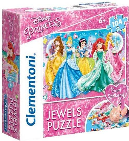 Disney Princess Puslespill med Diamanter, 104 Biter