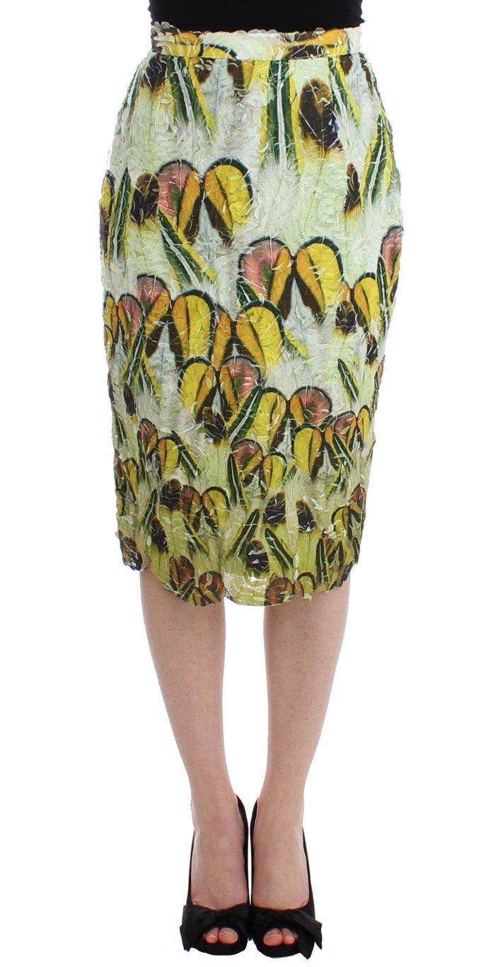 Multicolor Organza Pencil Skirt - S