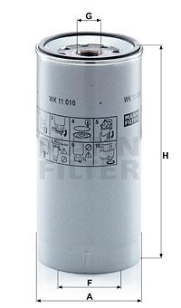 Polttoainesuodatin MANN-FILTER WK 11 016 z