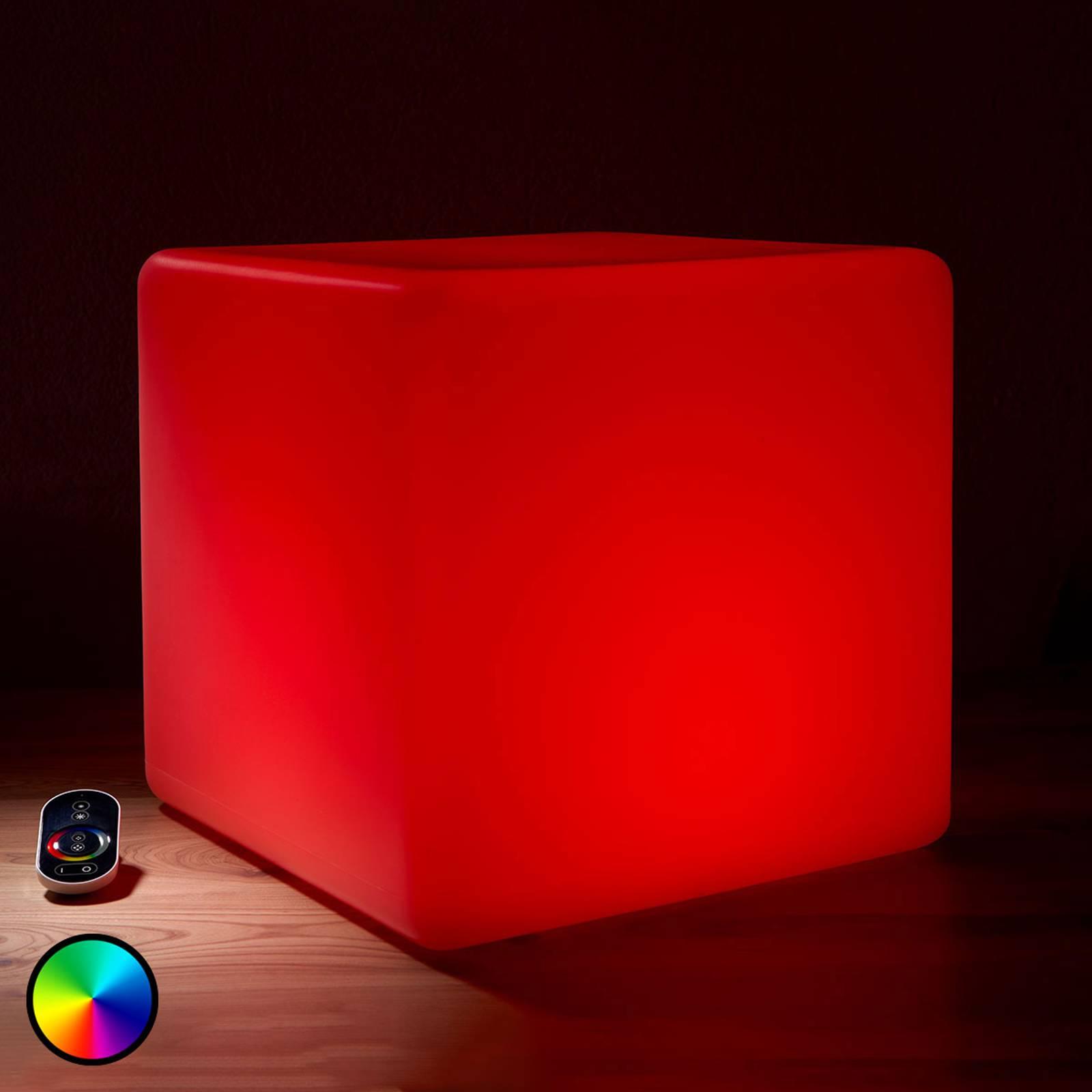 Valaiseva LED-ulkokoristekuutio, RGB 35 cm