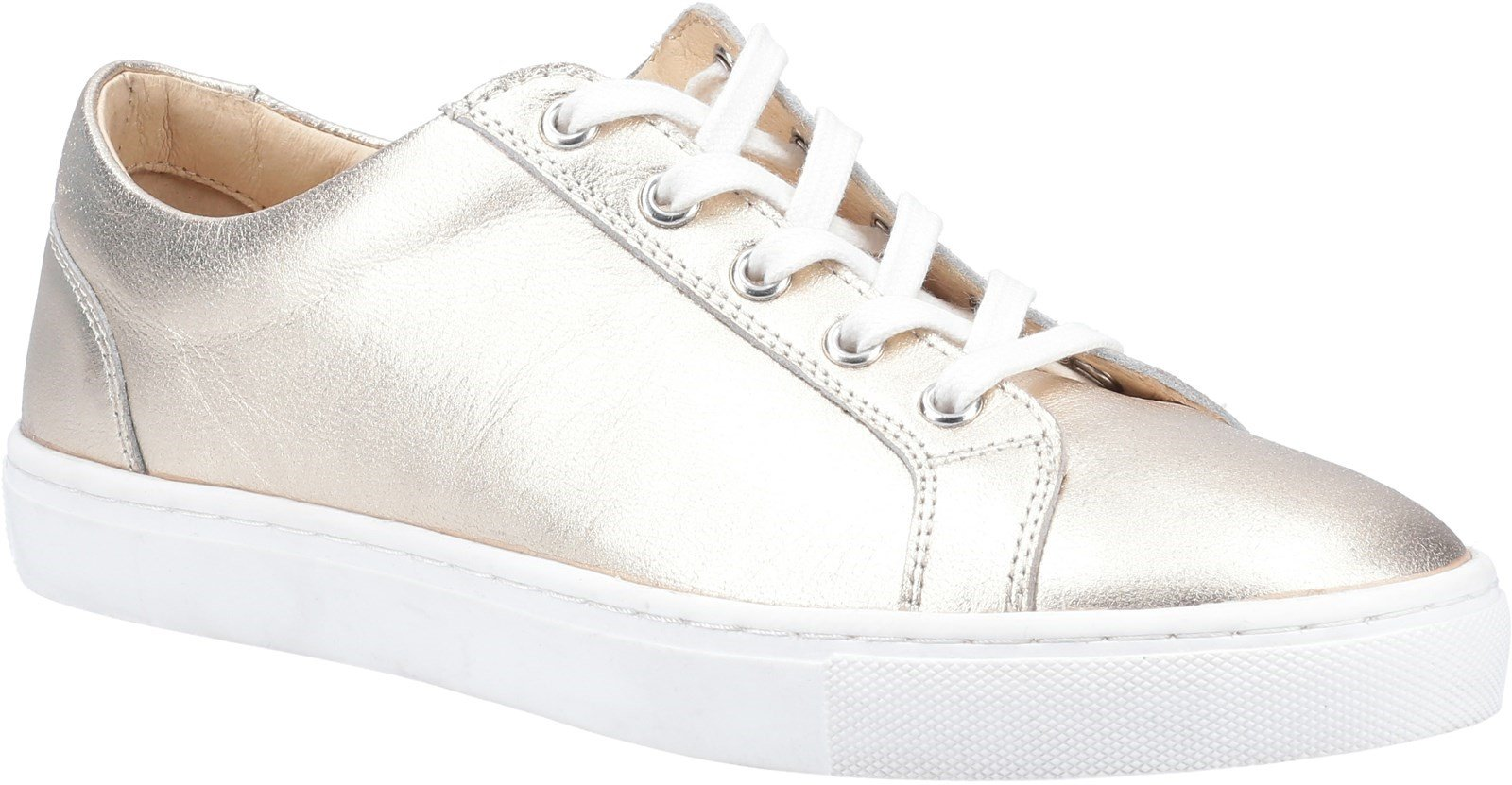 Hush Puppies Women's Tessa Lace Trainer Various Colours 31961 - Gold 8