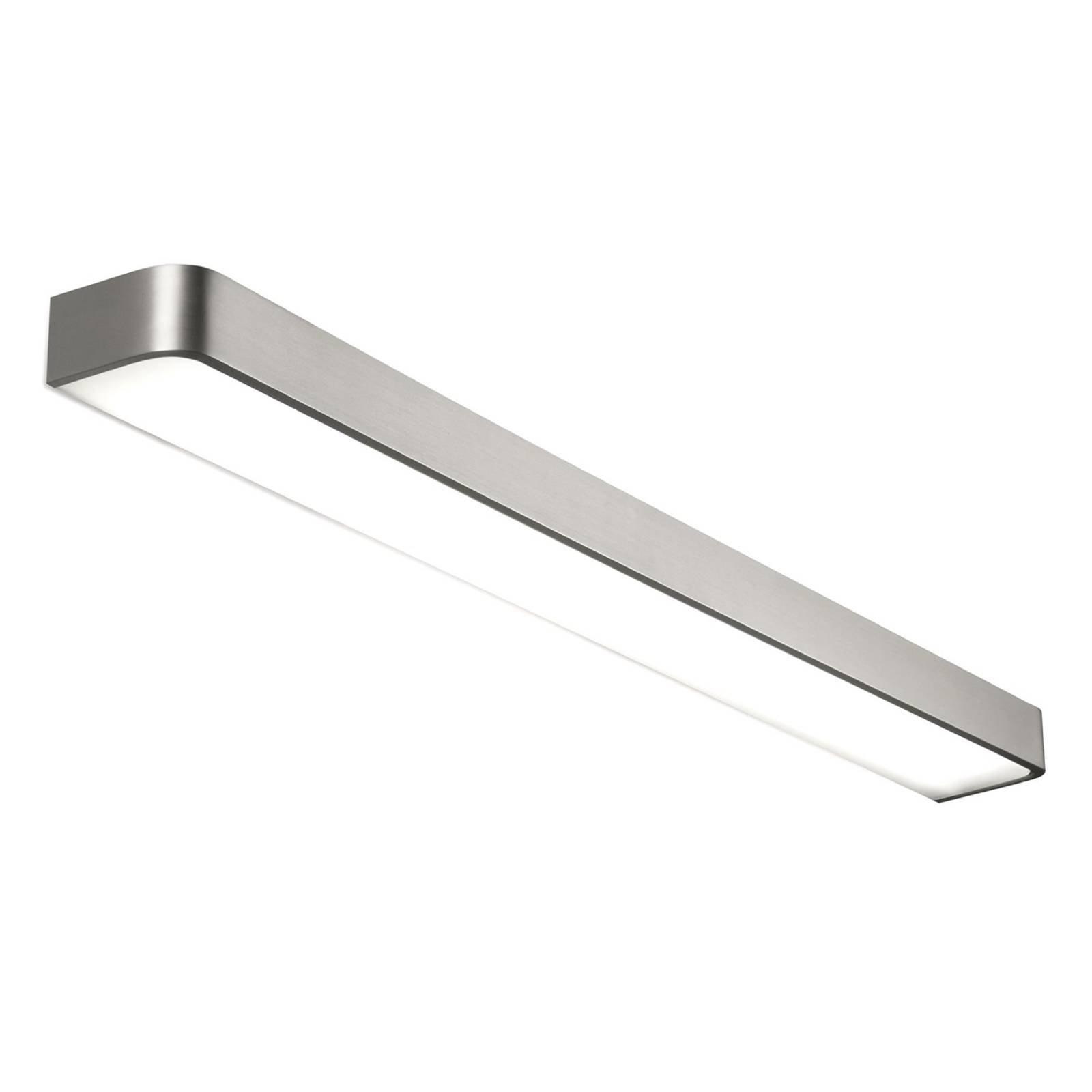 Matt-nikkelfarget LED-vegglampe Arcos