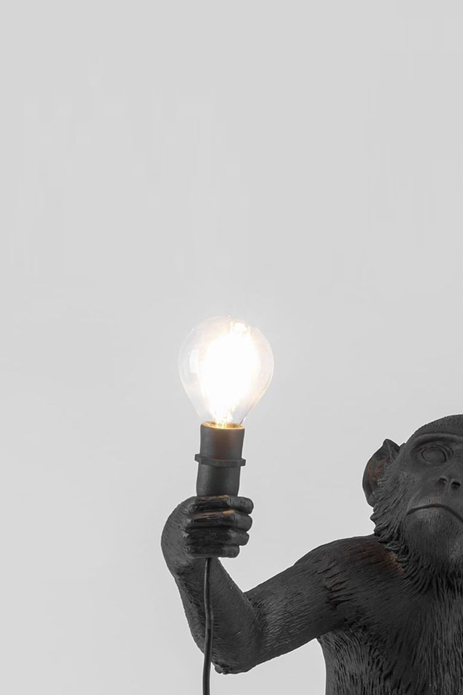Ljuskälla till bordslampa apa svart