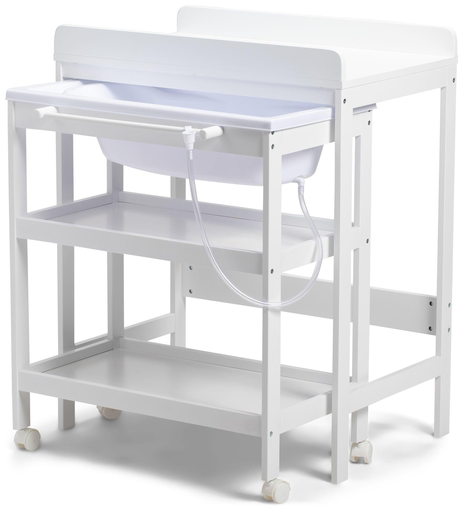 JLY Dream Hoitopöytä Irrotettavalla Kylpyammeella, Valkoinen