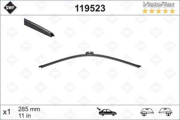 Flatblade för bakruta 285mm