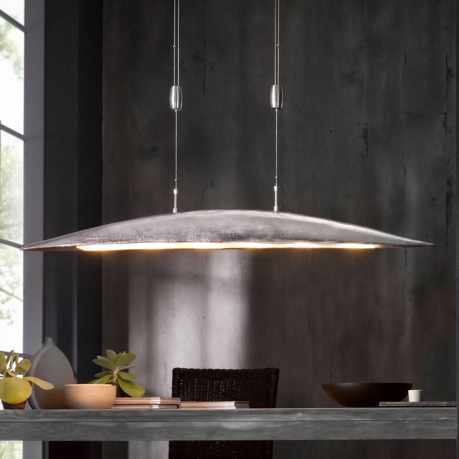 Colmar-LED-riippuvalaisin, pituus 140 cm, nikkeliä