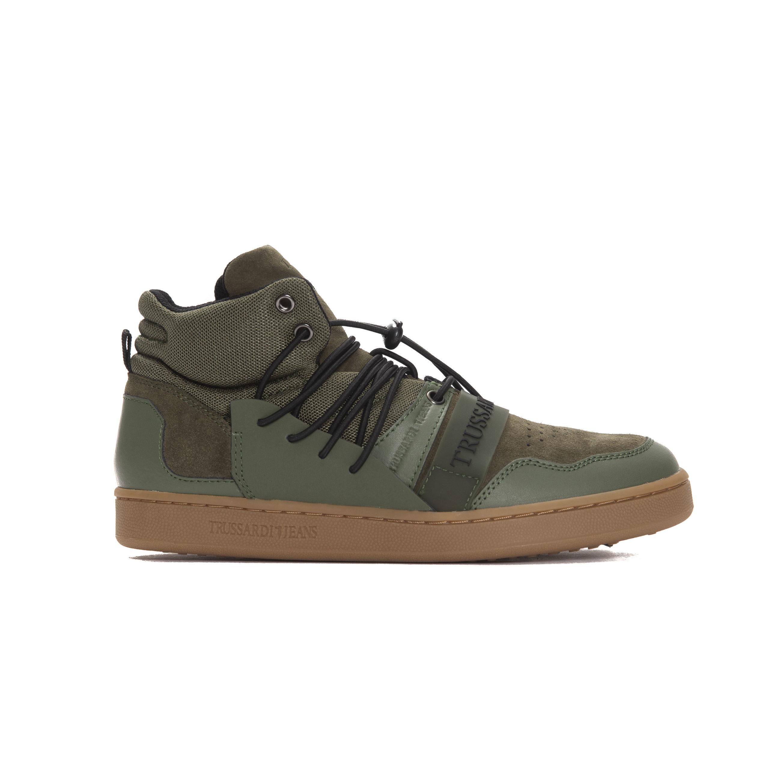 Trussardi Jeans Men's Mil. Military Trainer Army TR1006565 - EU40/US7