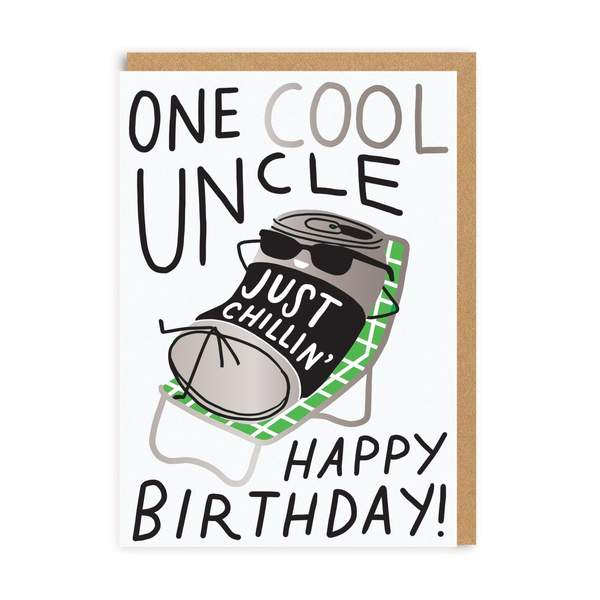 One Cool Uncle Birthday Greeting Card