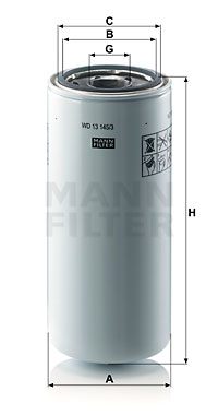 Öljynsuodatin MANN-FILTER WD 13 145/3