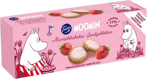 Moomin Kex Jordgubb 125g