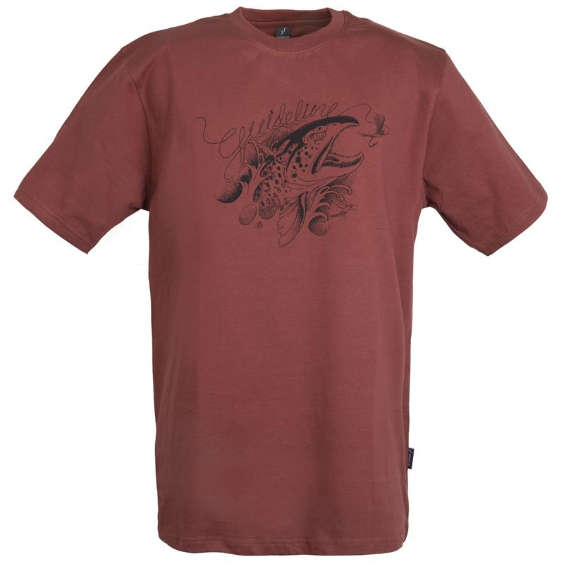 Guideline Angry Trout t-skjorte XXL ECO - Brick - herre