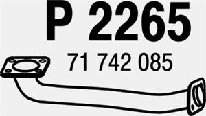 Pakoputki, Edessä, FIAT SEDICI, SUZUKI SX4, SX4 Sedan, (14190-79J00), 71742085