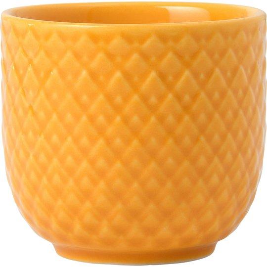 Lyngby Porcelæn Rhombe Color äggkopp 5 cm. Gul