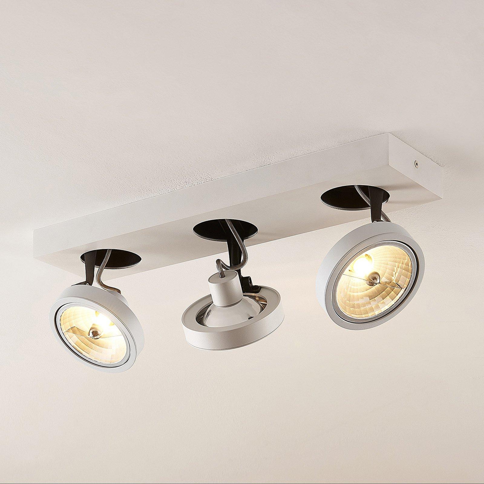 Arcchio Jorvin-taklampe, 3 lyskilder, hvit