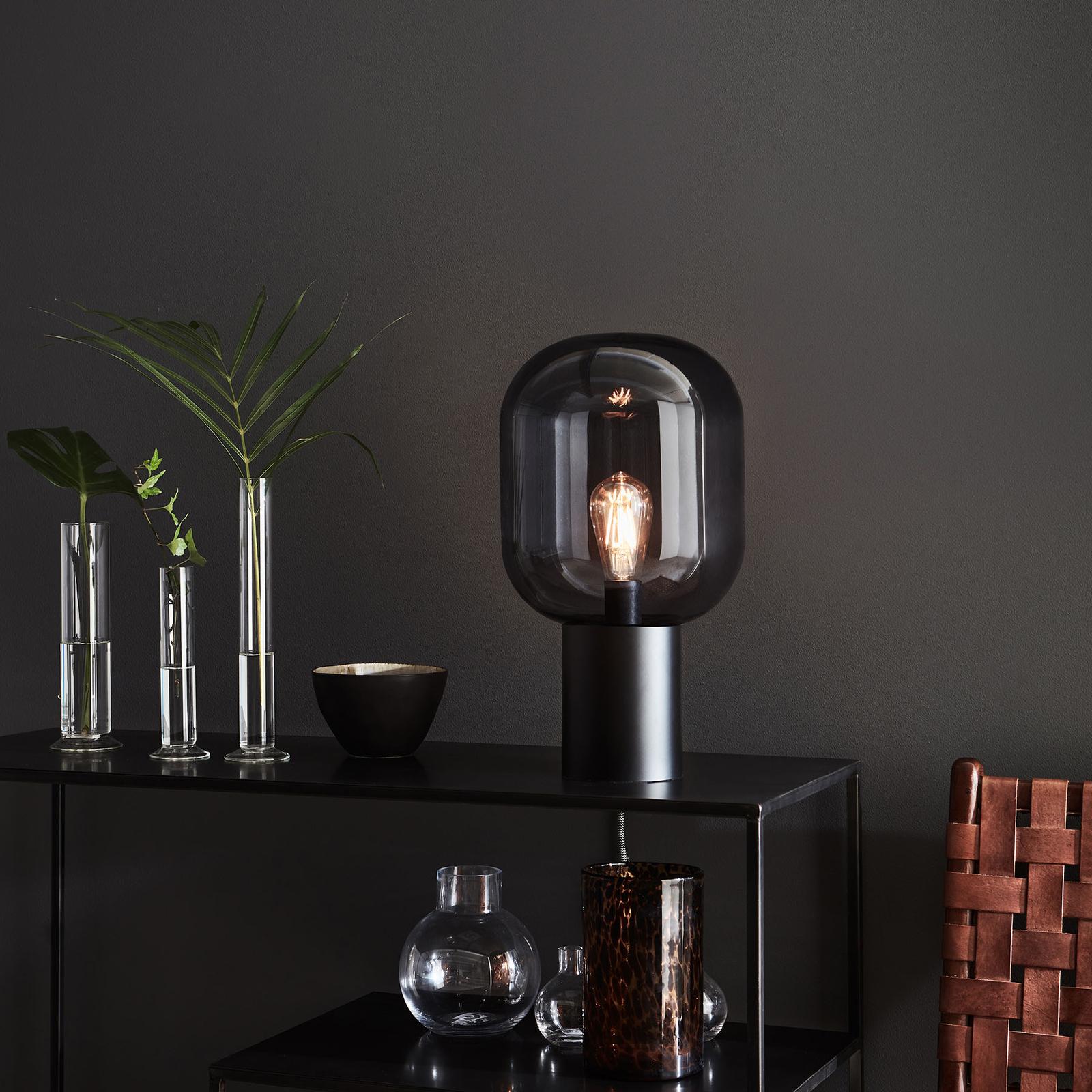 Pöytälamppu Brooklyn lasivarjostimella, 44 cm