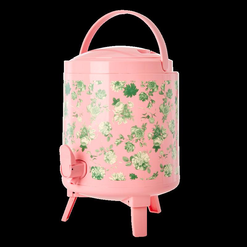 Rice - Cooler Tank 8 L - Pink Green w. Rose Print