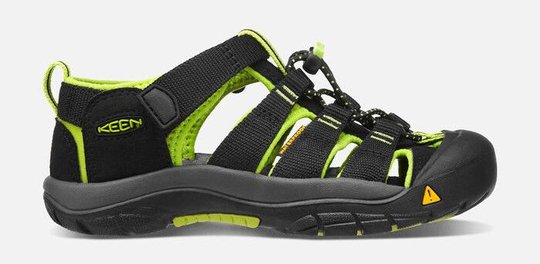 KEEN Newport H2 Sandal, Black/Lime Green, 35