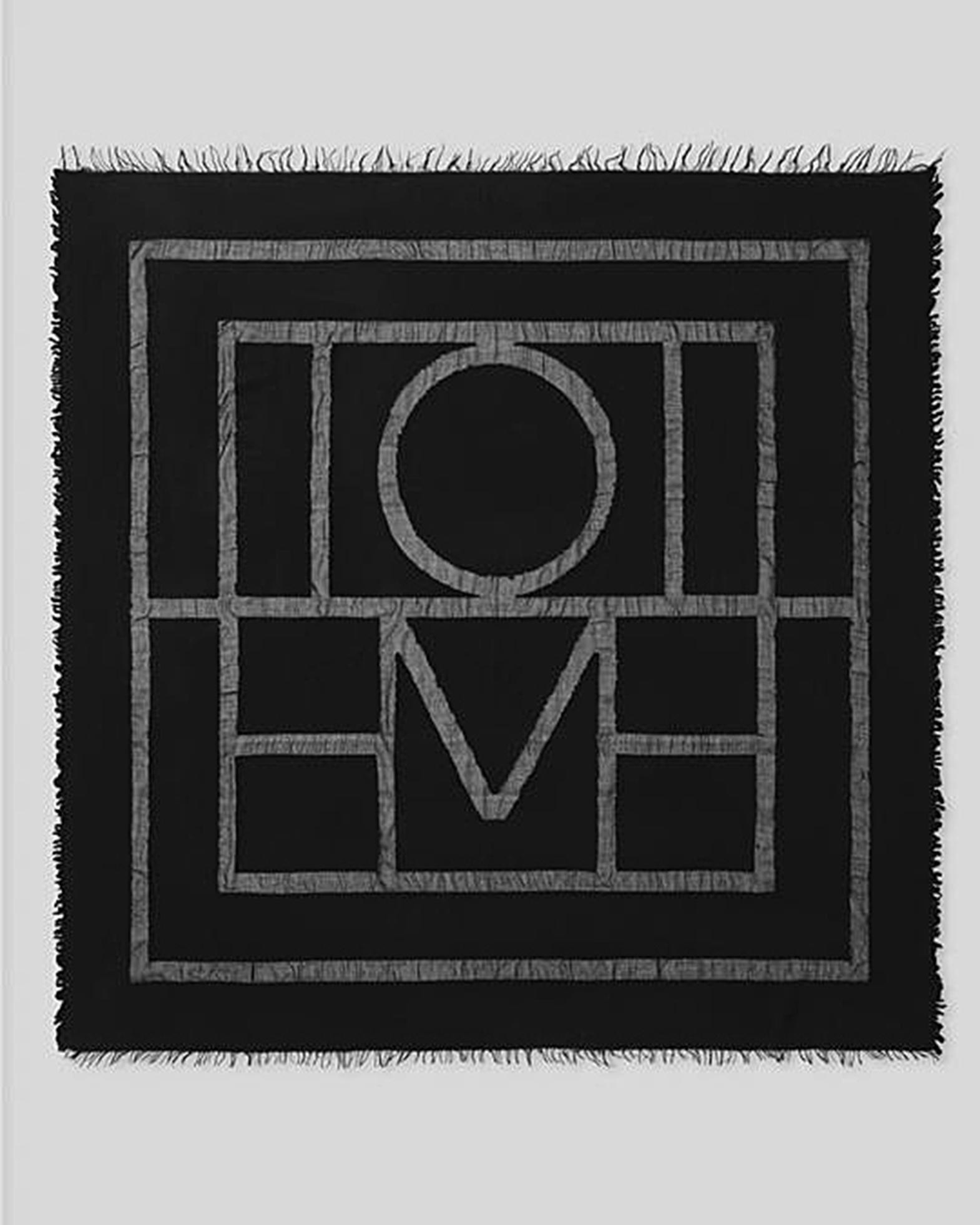 Totême Halsduk Monogram Travel svart OS