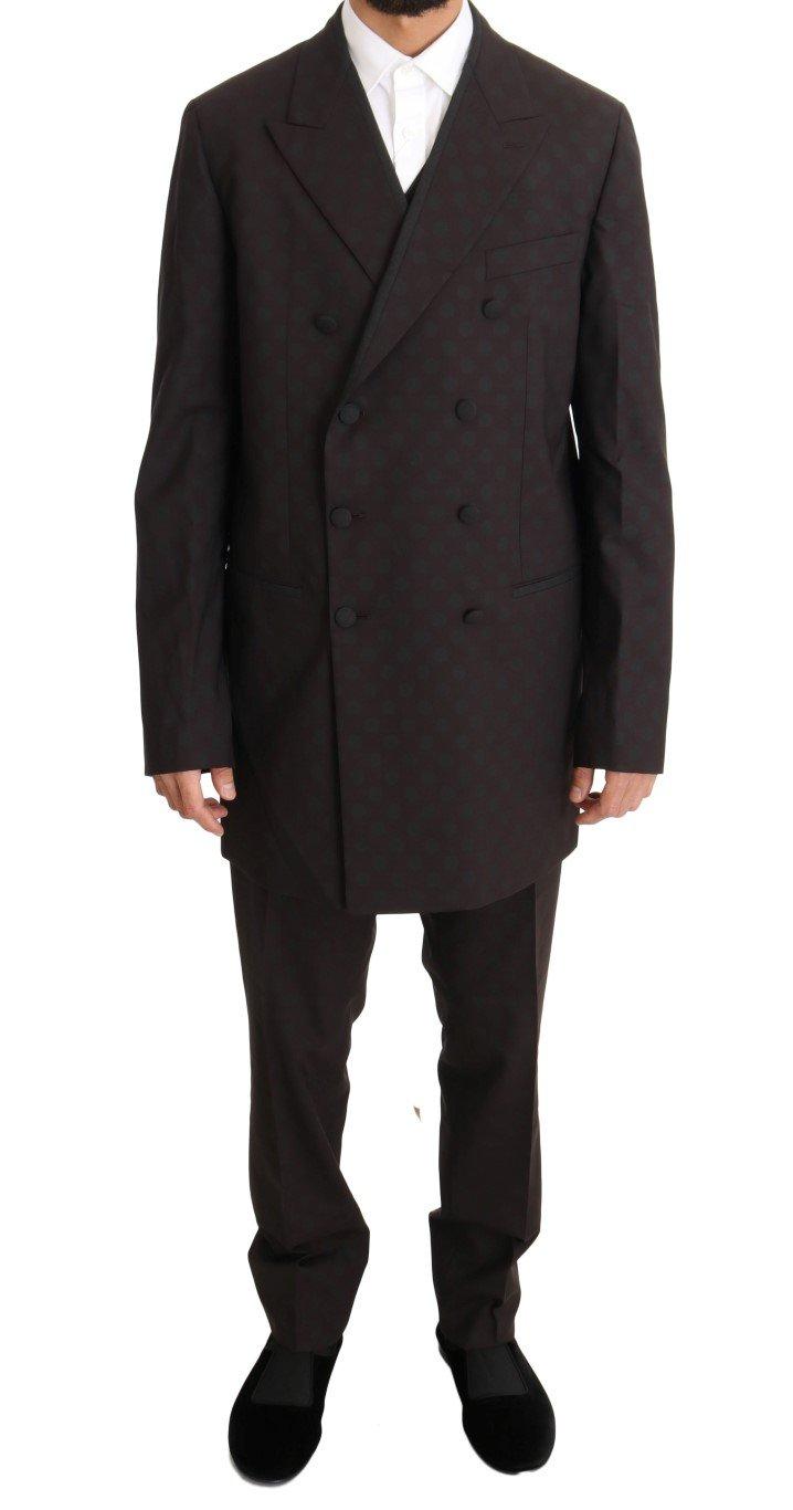Dolce & Gabbana Men's Wool Stretch Long 3 Piece Suit Bordeaux KOS1097 - IT50 | L