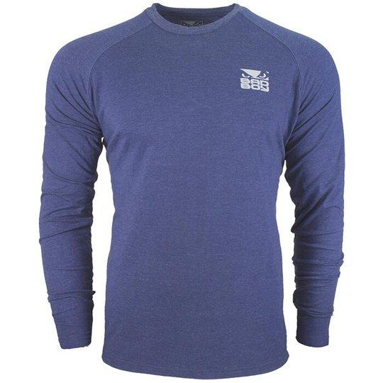 Bad Boy Icon T-shirt - Long Sleeve, Blue