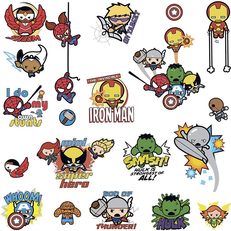 RoomMates Sisustustarrat Marvel Superhero Kawaii