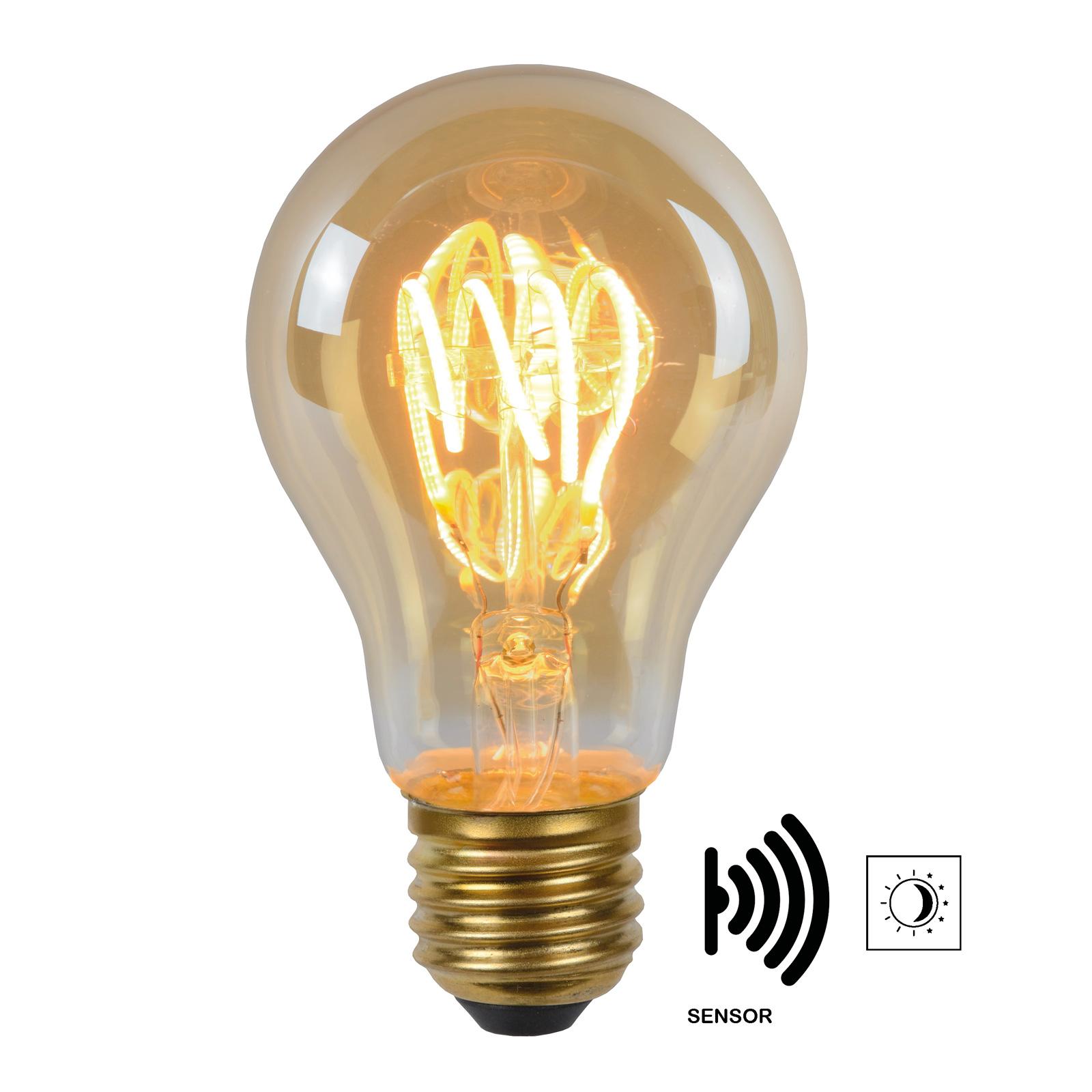 LED-lamppu E27 A60 4W 2 200 K amber, tunnistin