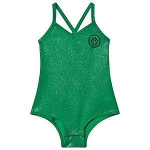 The Animals Observatory Trout Bodysuit Green Logo 2 år