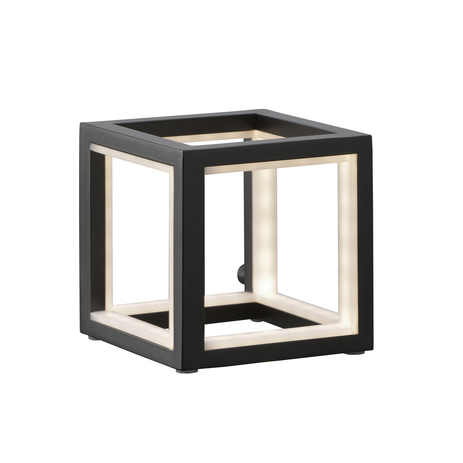 LED-pöytälamppu Delux, musta, 12 cm