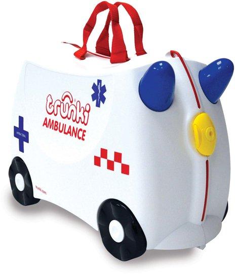 Trunki Abbie The Ambulance Trillekoffert 18L, White