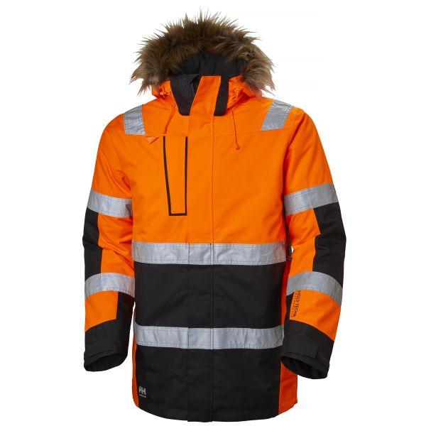 Helly Hansen Workwear Alna Vinterparkas varsel, orange/svart XS
