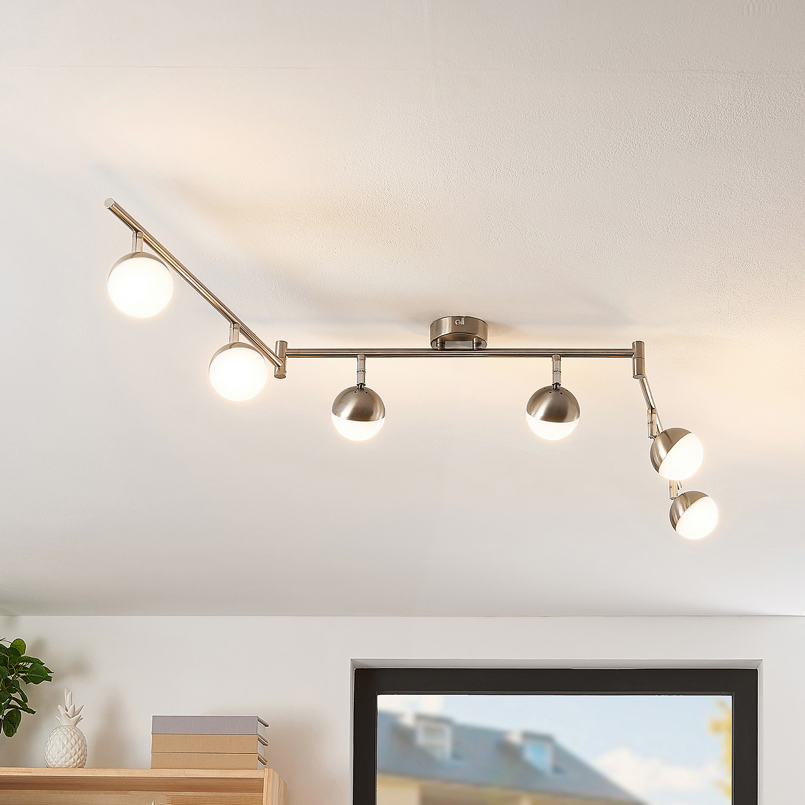 Lindby Lientje -LED-kattovalaisin, 6-lamppuinen