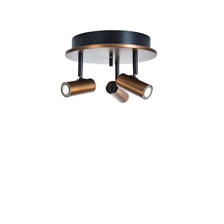 Cato Triospot Oxid LED Dimbar