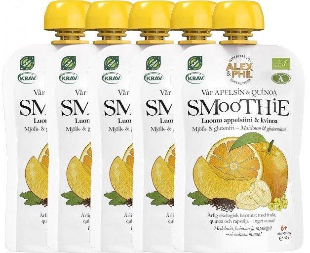 Luomu Smoothie Appelsiini & Kvinoa 5kpl - 26% alennus