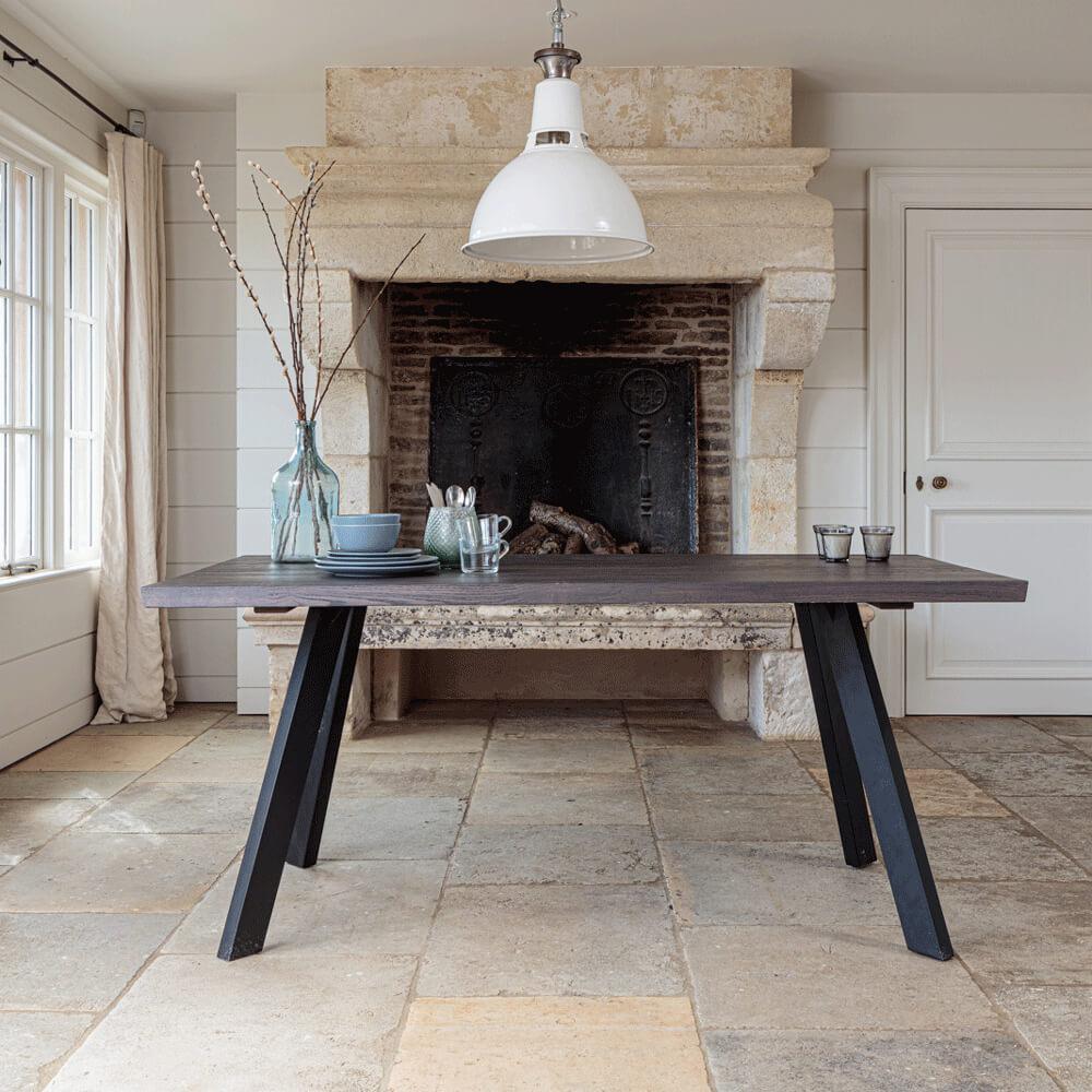 Valencia Solid Oak Dining Table - Dark Oak