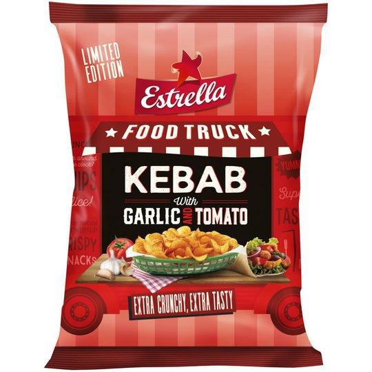 """Chips Kebab """"Garlic & Tomato"""" 180g - 40% rabatt"""