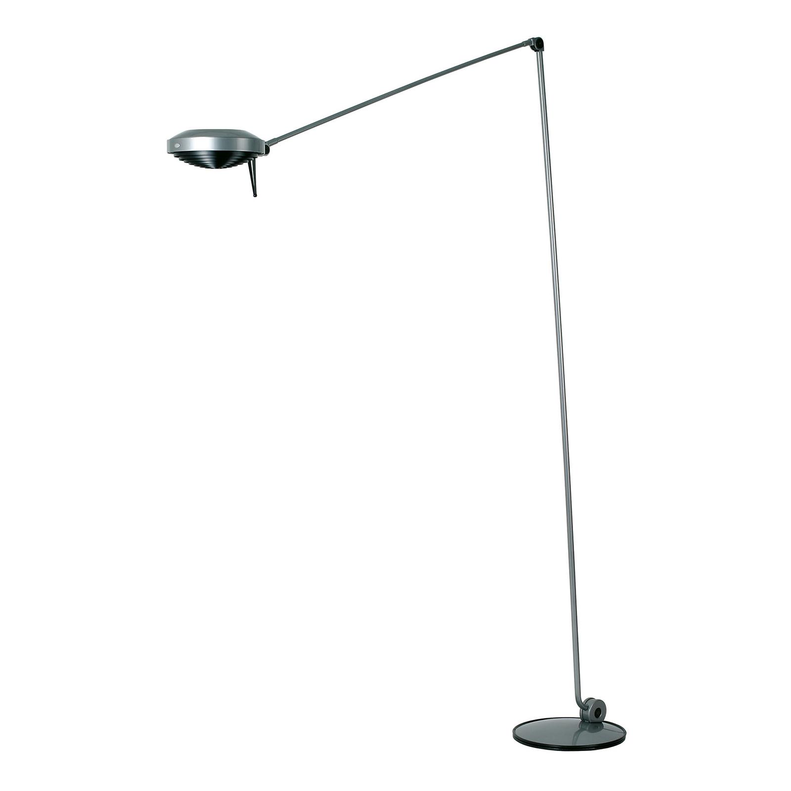 Lumina Elle -LED-lattiavalo, 200 cm, nikkeli