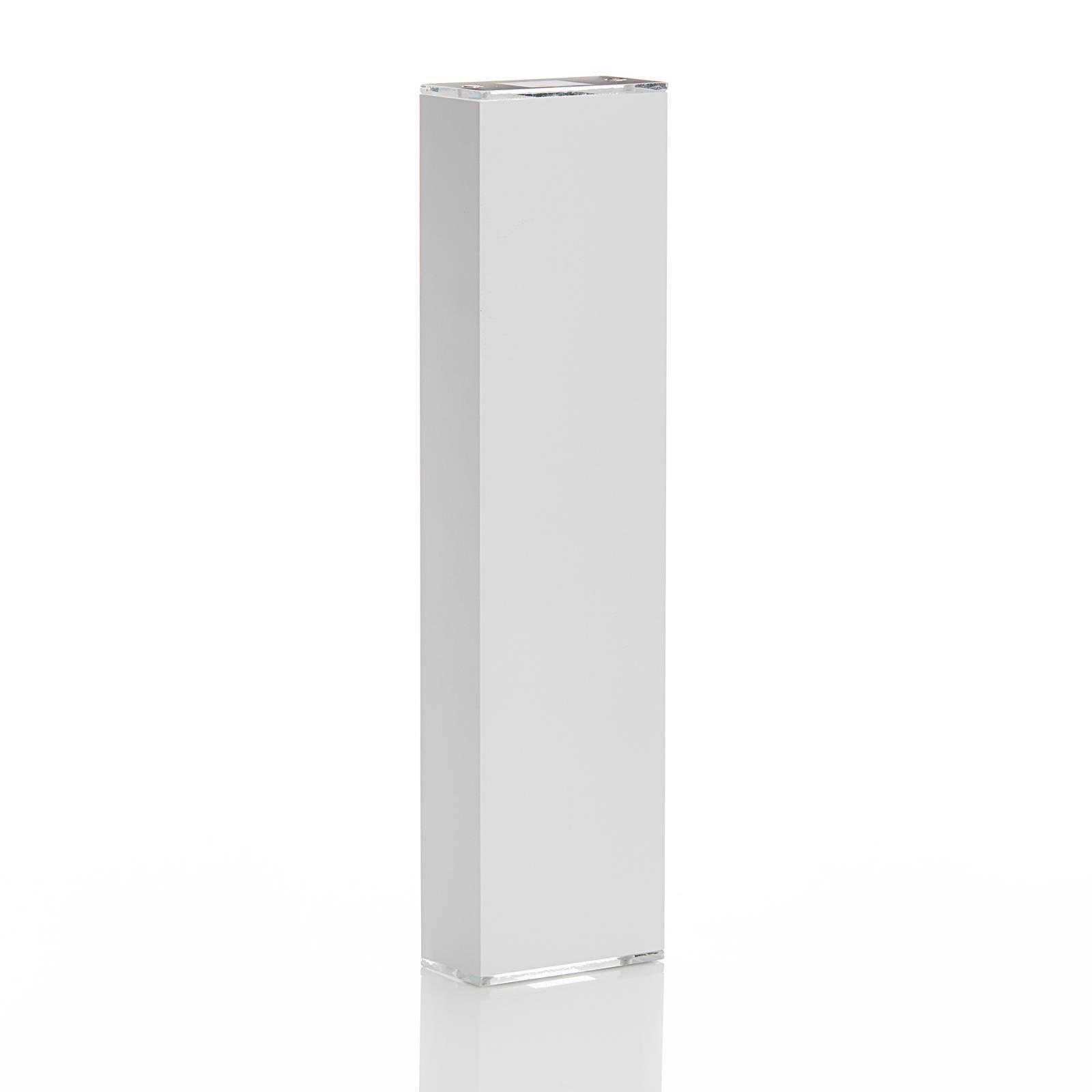 Lucande Anita LED-vegglampe hvit, høyde 36 cm