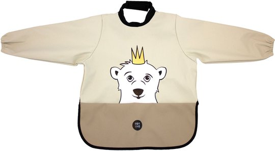 babyLivia Langermet Smekke Polar Bear, Soft Beige
