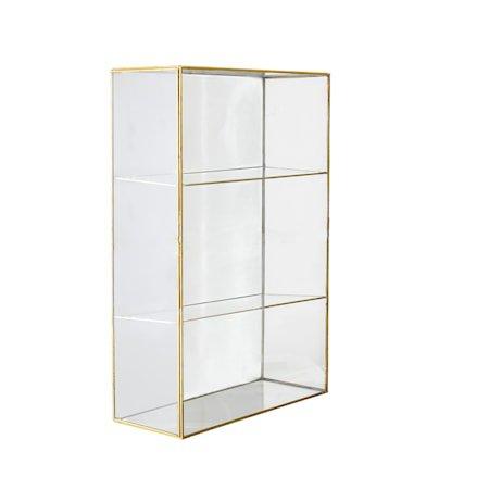 Lia Skap Klart Glass Messing 31x47cm
