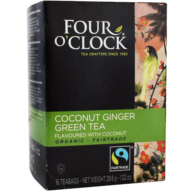 Grönt te Kokos Ingefära, Eko Fairtrade 16p - 38% rabatt